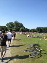 Munich has several nude parks/beaches... It's what you think it is, but not as pleasant to the eyes lol