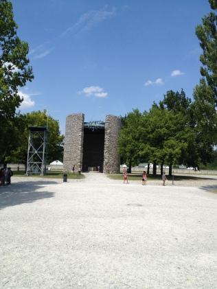 The gates to Dachau..